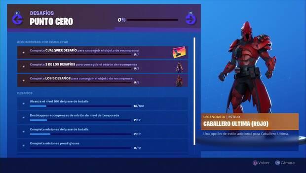 Fortnite - Punto Cero: Estilo Caballero Ultima (Rojo)