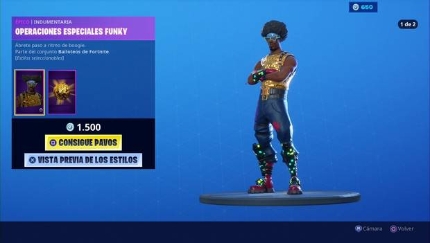 Fortnite - Skins: operaciones especiales funky