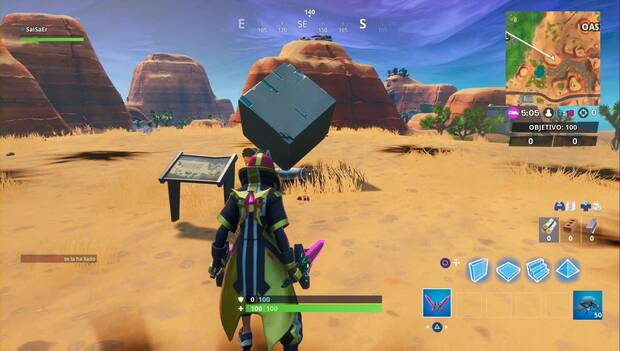 Fortnite - Monumento al cubo en el desierto