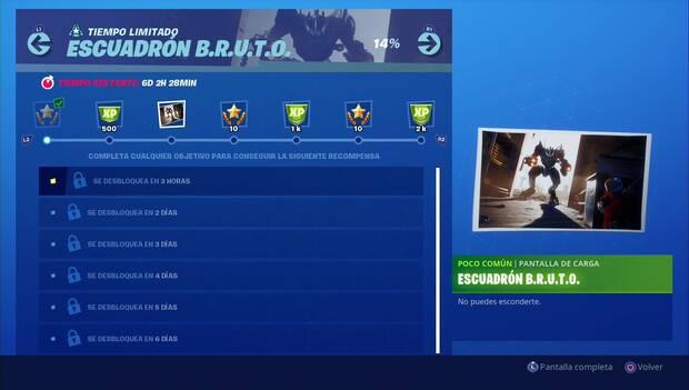 Fortnite - Desafíos de tiempo limitado: Pantalla de carga Escuadrón BRUTO