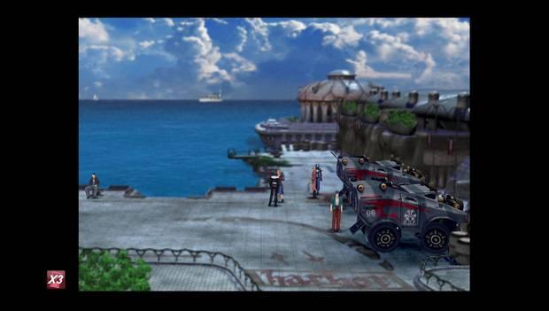 Final Fantasy VIII Remastered - camino al puerto de Balamb