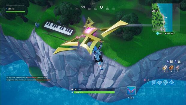 Fortnite - Visita un piano gigante: piano en la costa