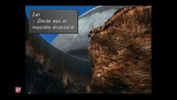 Final Fantasy VIII Remastered - Zell no puede alcanzar a Rinoa