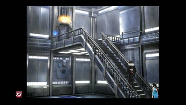 Final Fantasy VIII Remastered - Puerta en lo alto de las escaleras