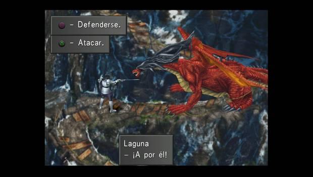 Final Fantasy VIII Remastered - Laguna se enfrenta al dragón