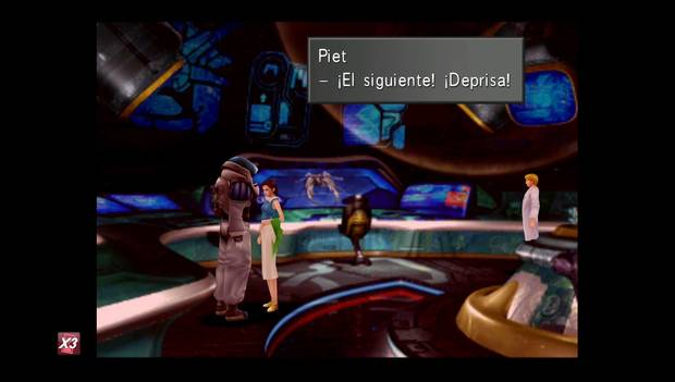 Final Fantasy VIII Remastered - Squall y Eleone en la sala de control