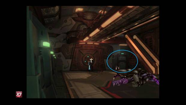 Final Fantasy VIII Remastered - Puerta a la bodega de carga