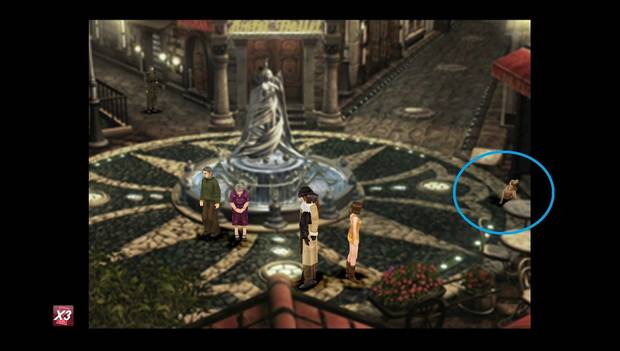 Final Fantasy VIII Remastered - Perro en la plaza de la fuente