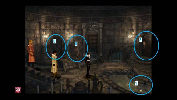 Final Fantasy VIII Remastered - Puntos de interés en la zona de la esclusa