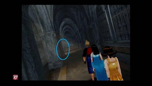 Final Fantasy VIII Remastered - pasillo de acceso a la sala del tesoro