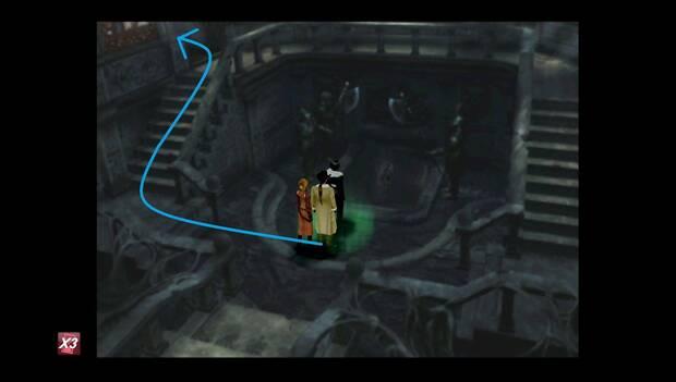 Final Fantasy VIII Remastered - camino a seguir hasta los ascensores en el castillo de artemisa