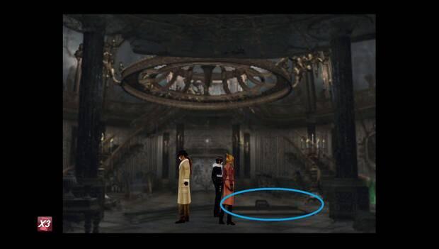 Final Fantasy VIII Remastered - Trampilla al sótano en el castillo de Artemisa