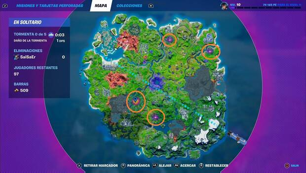 Fortnite Battle Royale - El Parallel: map with location