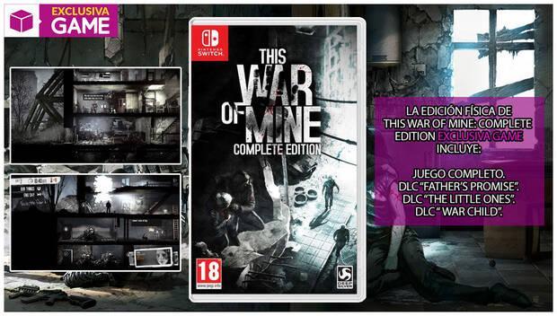 GAME detalla su edición físca exclusiva para This War of Mine en Switch Imagen 2