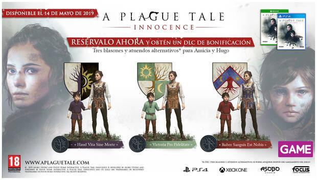 GAME detalla sus incentivos por la reserva de A Plague Tale: Innocence Imagen 2