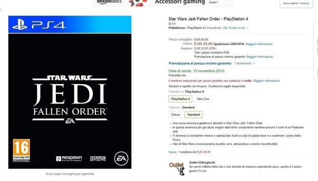 Filtración: Star Wars Jedi: Fallen Order se lanzará el 15 de noviembre Imagen 2