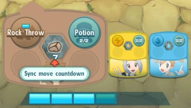 Pokémon Masters - Botón de ataque sincronizado