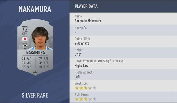 Shunsuke Nakamura FIFA 19