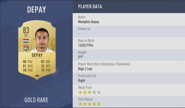 Memphis Depay FIFA 19