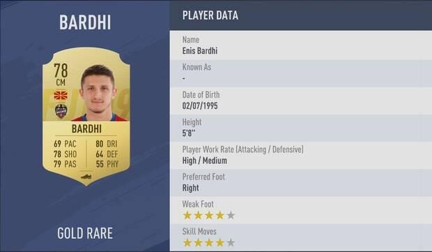 Enis Bardhi FIFA 19