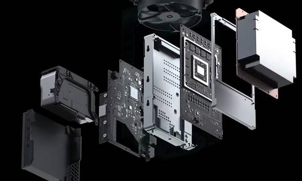 Interior de Xbox Series X.
