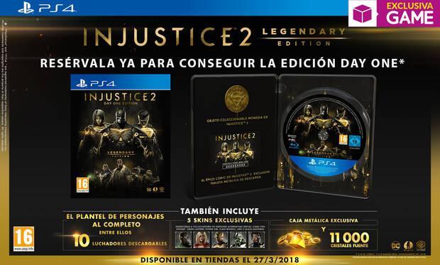 GAME venderá en exclusiva la Day One Legendary Edition de Injustice 2 Imagen 2