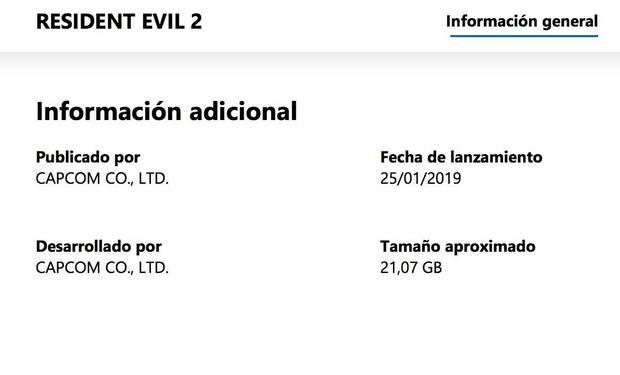 Resident Evil 2 Remake ocupará 21 GB de disco duro Imagen 2