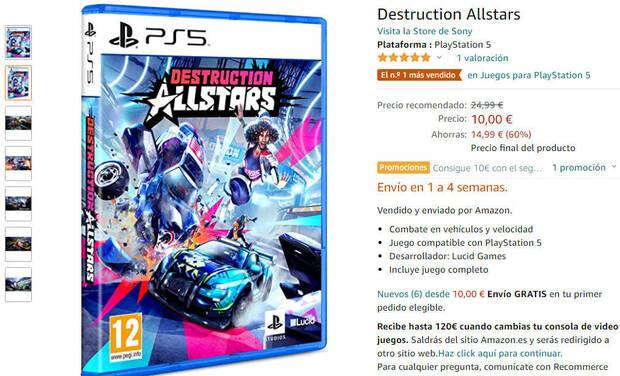 Destruction AllStars for 10 euros at Amazon.