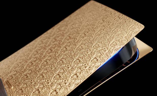 PS5 de oro creada por Caviar de lujo