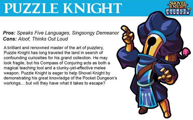 Puzzle Knight en Shovel Knight Pocket Dungeon
