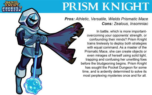 Prism Knight en Shovel Knight Pocket Dungeon