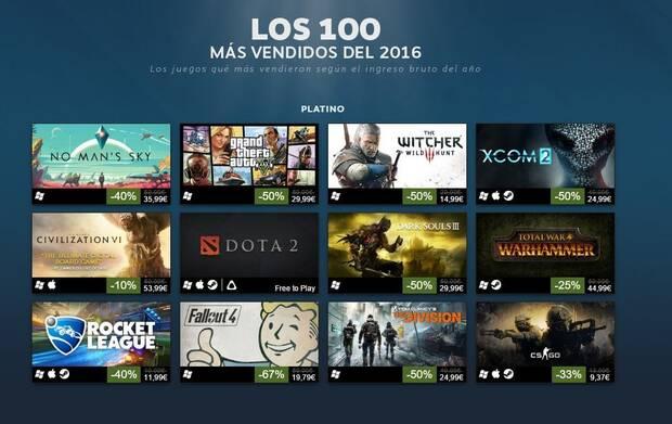 Desvelados los 100 juegos más exitosos de Steam durante 2016 Imagen 2