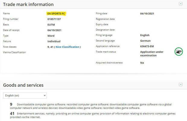Electronic Arts registra la marca 'EA Sports FC'.