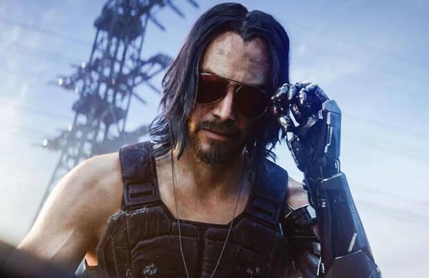 Keanu Reeves como Johnny Silverhand en Cyberpunk 2077
