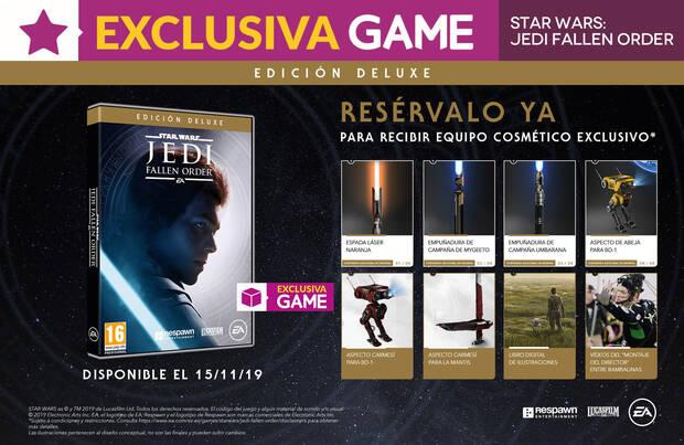 GAME detalla su exclusiva Edición Deluxe de Star Wars Jedi: Fallen Order y sus incentivos Imagen 2