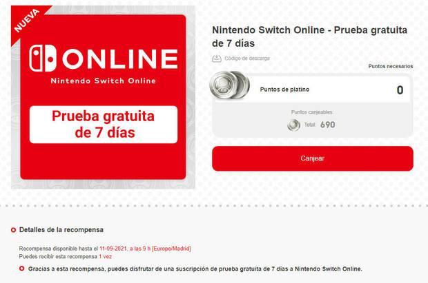 Nintendo Switch Online prueba