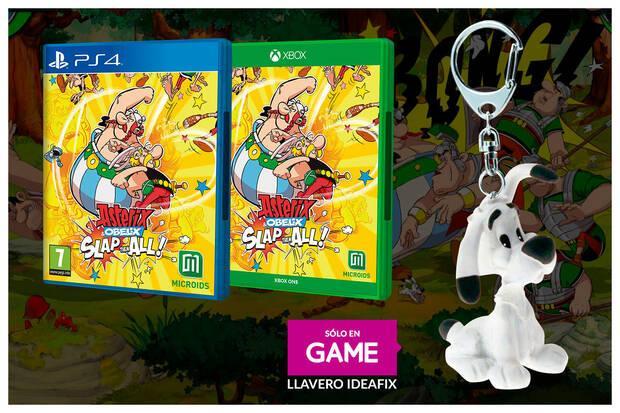 Llavero Ideafix de regalo al reservar Asterix & Obelix: Slap Them All en GAME.