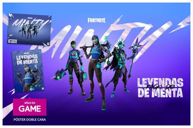 Reserva Fortnite Pack Leyendas de Menta en GAME y ll