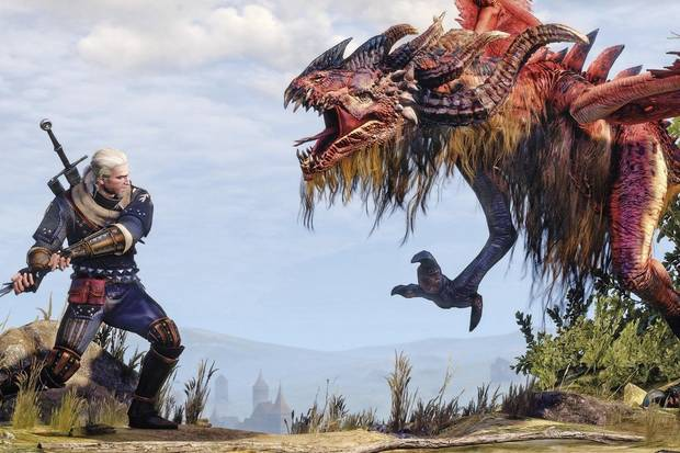 The Witcher 3: Wild Hunt, Geralt, Contrato, Dragón