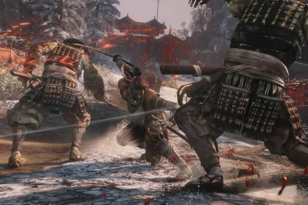 Sekiro: Shadows Die Twice - Sekiro mata a varios soldados