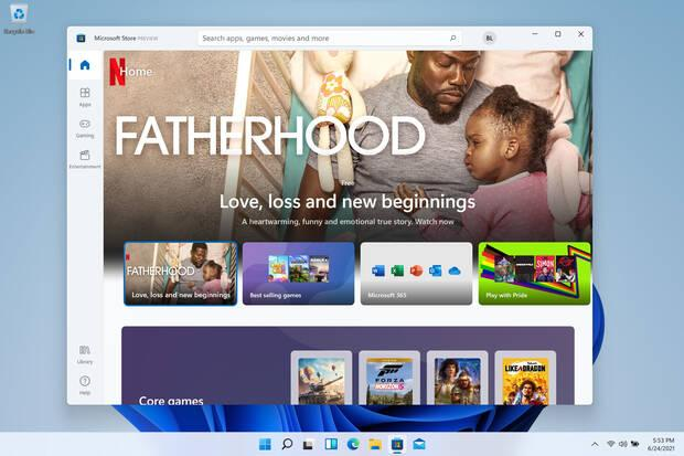 The new Microsoft Store for Windows 11.