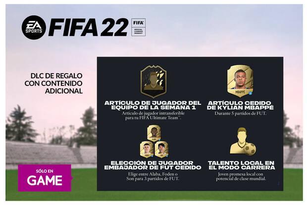 DLC de regalo con la reserva de FIFA 21 en GAME