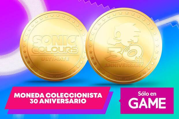 Moneda por el 30 aniversario de Sonic