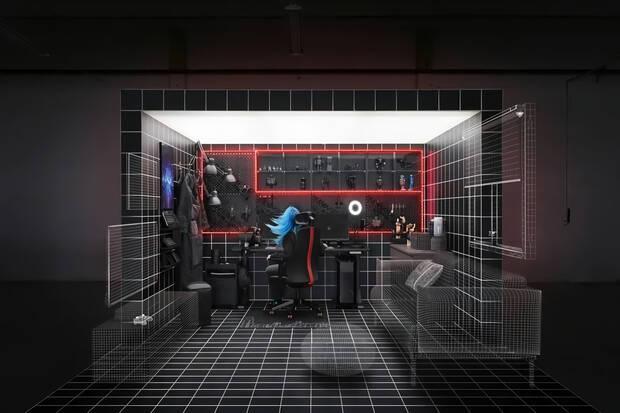Imagen promocional de IKEA para su línea de productos para jugadores.