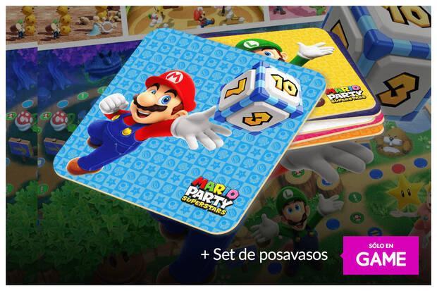 Regalo posavasos en GAME de Mario Party con la reserva