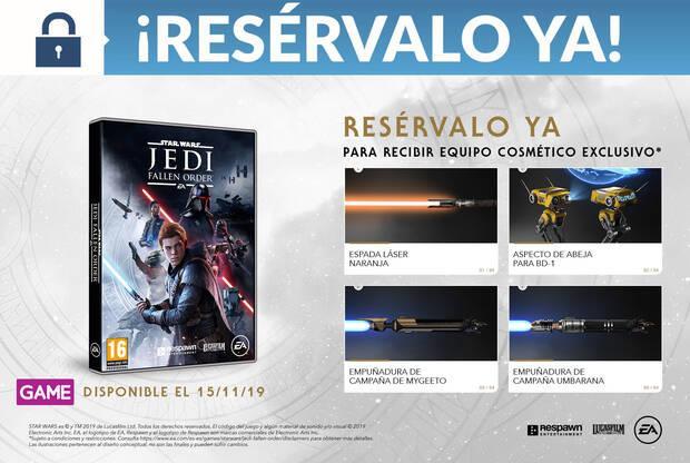 GAME detalla su exclusiva Edición Deluxe de Star Wars Jedi: Fallen Order y sus incentivos Imagen 3