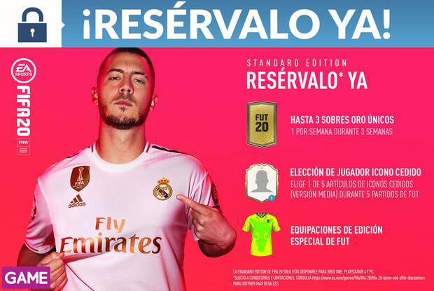 GAME detalla su incentivo por reserva y sus ediciones de FIFA 20 Imagen 2