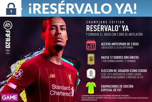GAME detalla su incentivo por reserva y sus ediciones de FIFA 20 Imagen 3