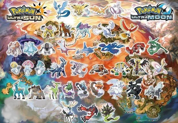 Capturar todos los Pokémon Ultrasol y Ultraluna