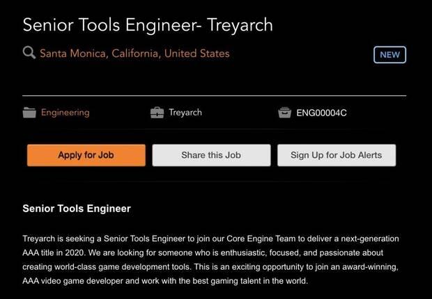 Una oferta de trabajo confirma que Treyarch se ocupa del Call of Duty de 2020 Imagen 2